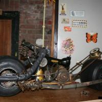 WIP batman style bike - made of junk and scrap materials